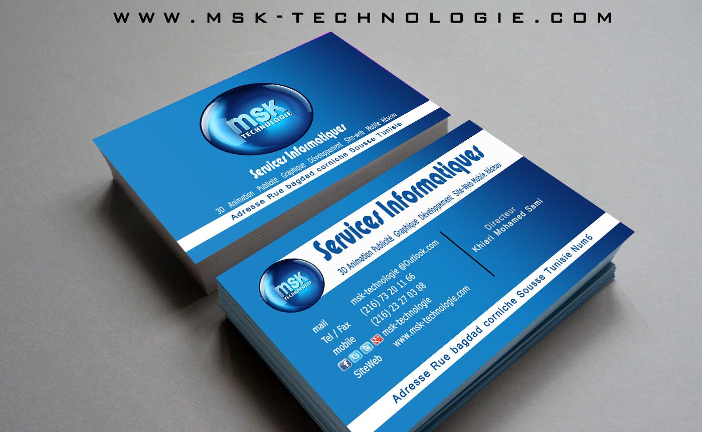 MSK TECHNOLOGIE Carte Visite