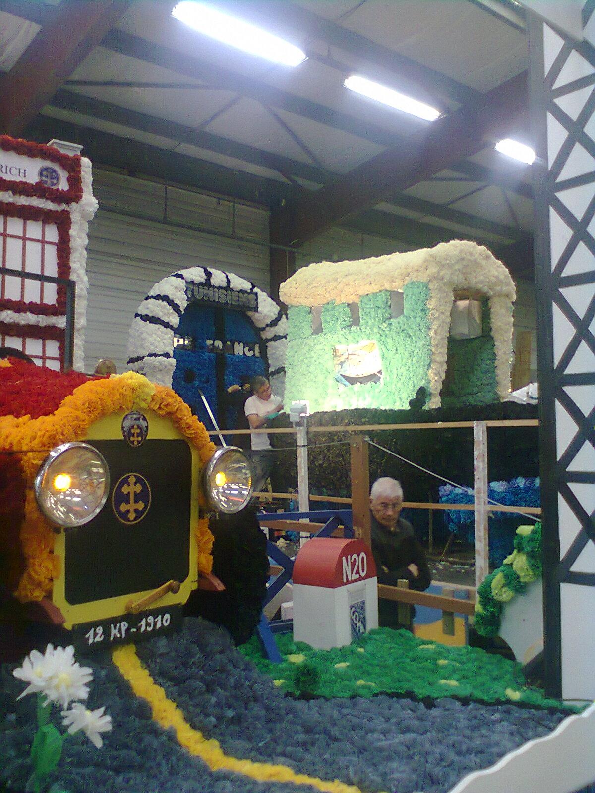 préparation du char tunisien pour le carnaval D'argenteuil