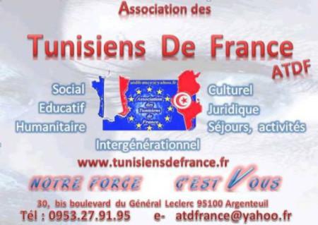 courrier du président de l'association des tunisiens de france ATDF adressé à l'ambassadeur de Tunisie en France